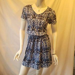 Kim Rogers Baroque pattern Tshirt 100%cotton dress